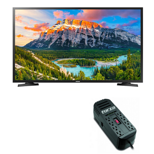 "[INN03247] Combo Pantalla 49"" Samsung Smart TV FHD J5290H + Adaptador de Corriente Forza Power FVR-2201"